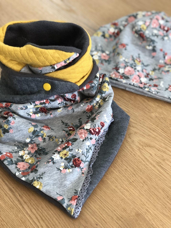 gelb-grau Blümchen