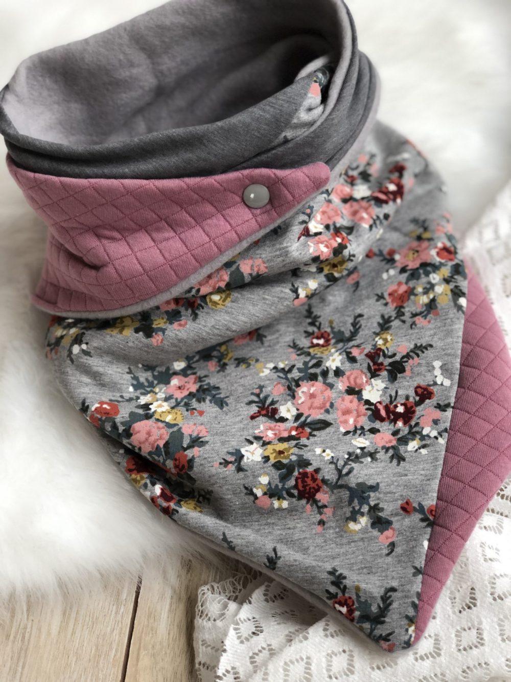 rosa-grau Blümchen